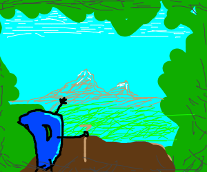 Drawception goes hiking and is happy :D