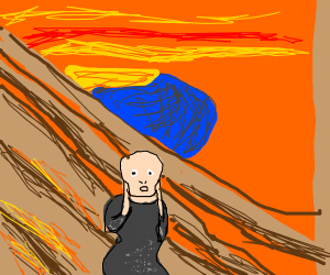 The scream painting