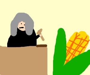 Judge demands order in the corns