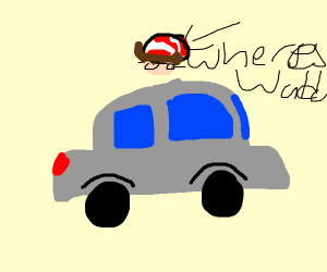 Where's waldo is found on a vehicle