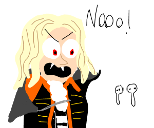 Alucard can't stand airpods