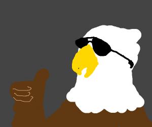 Eagle with sunglasses