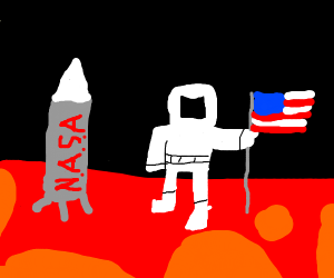 Astronaut discovering Mars