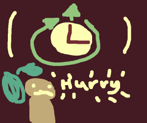 Guy waits for clock to hurry up