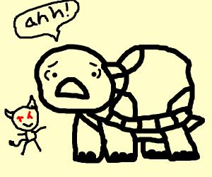 Scared animal