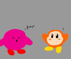 Wadele Dee is amazed when Kirby says Poyo