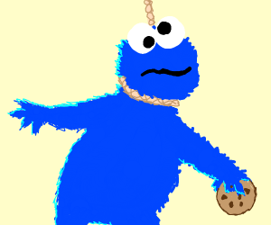 cookie monster commits neck rope
