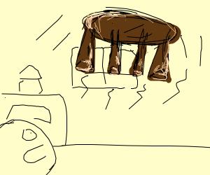 Levitating table