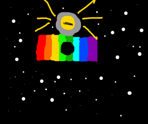 Rainbow camera in space!