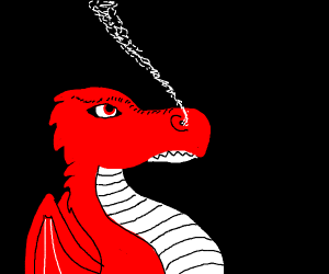 Dragon smoking