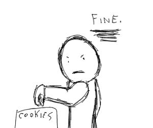 eat my god damn cookies