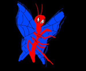 minty spiderman butterfly