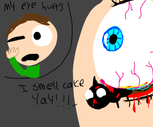 Parasites crawling out of child's eyes