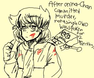 anime girl commits murder