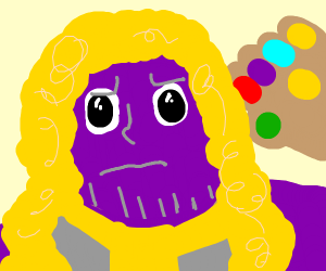 Thanos but with curly golden locks uwu