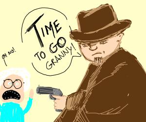 cowboy shoots grandma