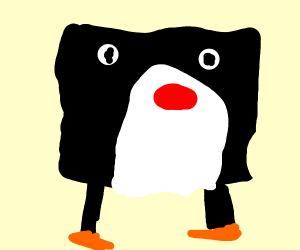 pingu mixed with spongebob