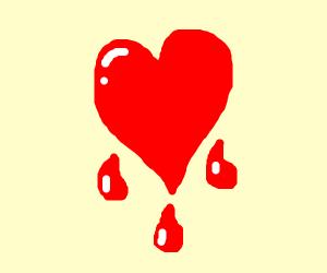 Dripping heart.