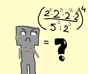 Robot learns math