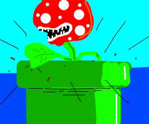 Piranha plant is stuck