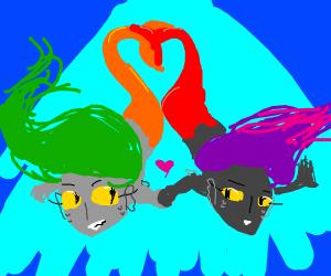 lesbian mermaids!!!!! i love them!!!!!
