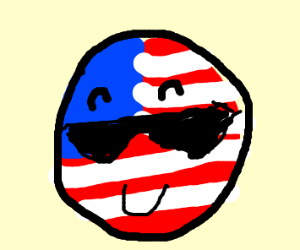 Cool Emoji With an American Flag Face