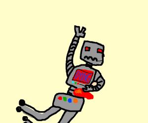 grey robot die