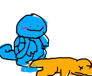 Squirtle Kills Charmander by wetting his tail