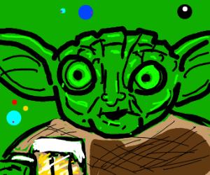 Yoda givin you a drink