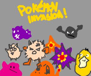 Pokémon invasion!