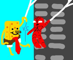 Spongebob VS Spiderman