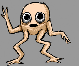 A guy with squiggly legs