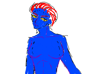 Blue lady from xmen