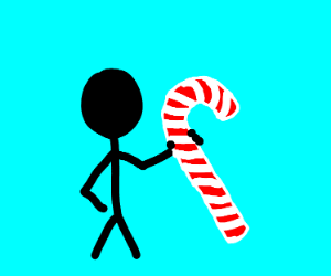 Boy with candy cane