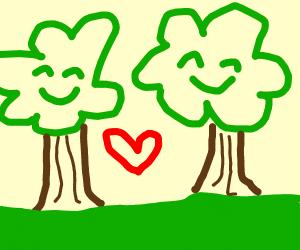 Happy trees.
