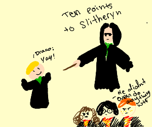 SnapeGives10PointsToDraco'sHouseForExisting