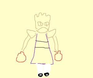 Hitmonchan as a Powerpuff girl