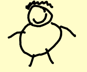 fat man with no eyes