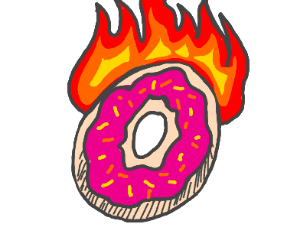 Flaming Donut