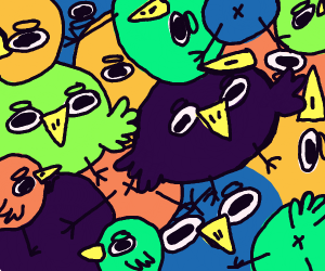 Drawception has been invaded by birds!!!!!!!