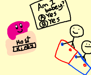 Kirby hosting a gameshow