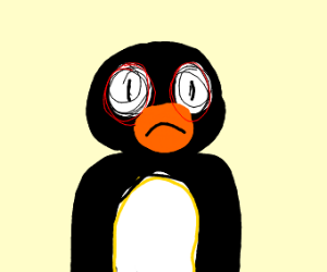 This penguin has seen some stuff