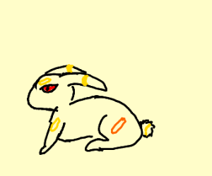 Umbreon but a rabbit