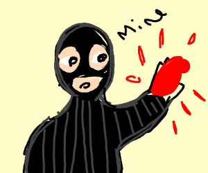 Person steals human heart
