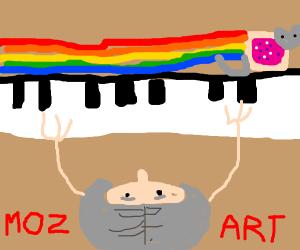Mozart used a meme-piano