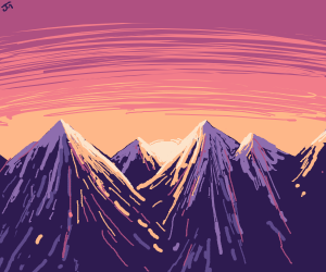 Sunrise and mountains