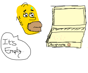 Homer Simpson has no donuts left