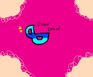 Drawception logo as a duck