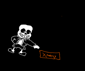 sans wants to click the mercy button