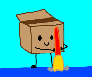 Cardboard box doing house keeping
